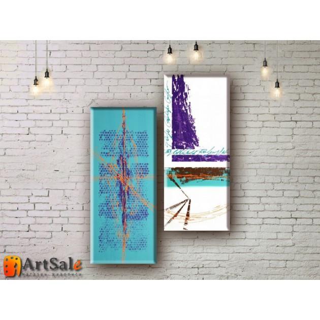 Модульные Картины, рисованные маслом, Art. MKR17_2_033