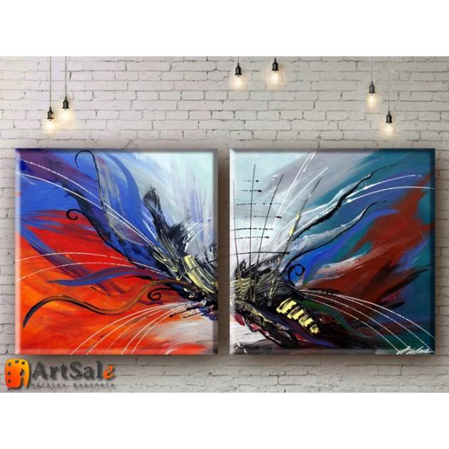 Модульные Картины, рисованные маслом, Art. MKR17_2_035