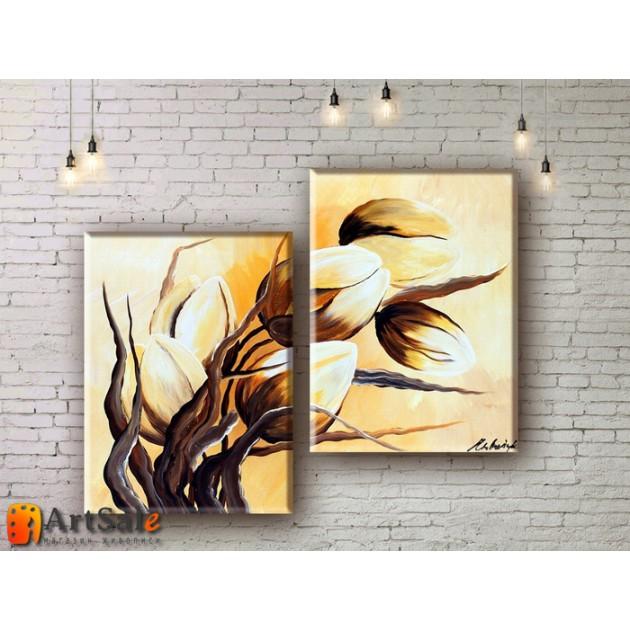 Модульные Картины, рисованные маслом, Art. MKR17_2_047