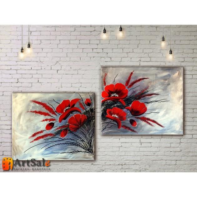 Модульные Картины, рисованные маслом, Art. MKR17_2_059