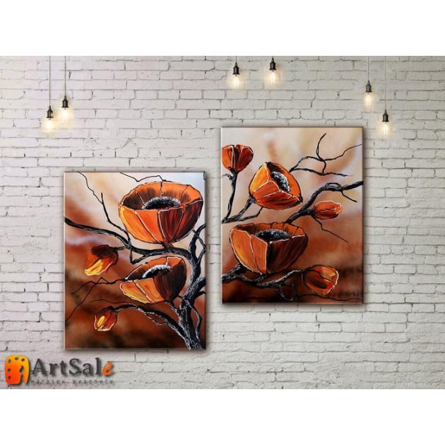 Модульные Картины, рисованные маслом, Art. MKR17_2_063