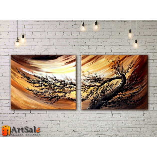 Модульные Картины, рисованные маслом, Art. MKR17_2_081