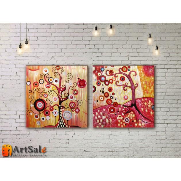 Модульные Картины, рисованные маслом, Art. MKR17_2_089
