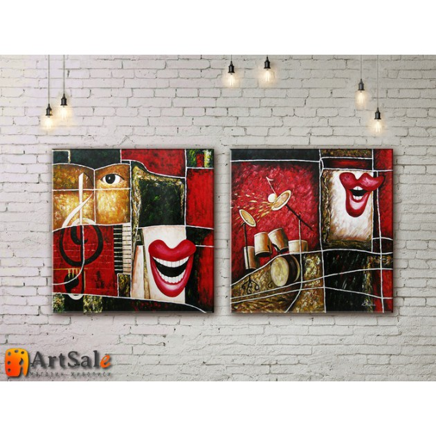 Модульные Картины, рисованные маслом, Art. MKR17_2_091