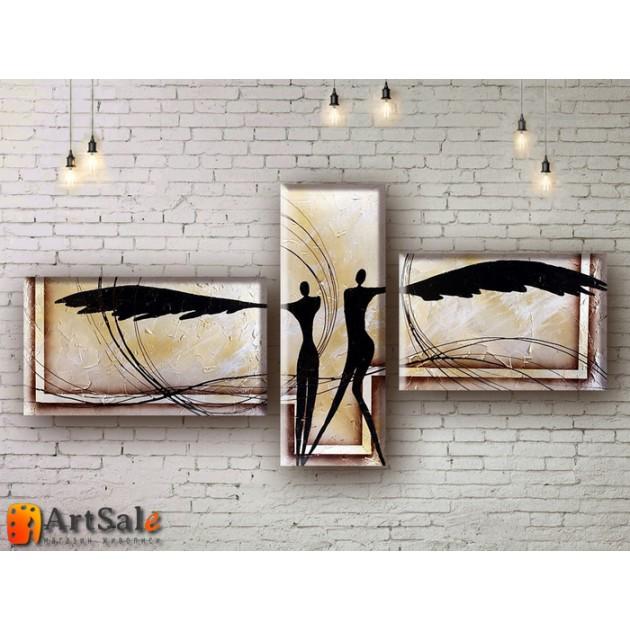 Модульные Картины, рисованные маслом, Art. MKR17_3_007