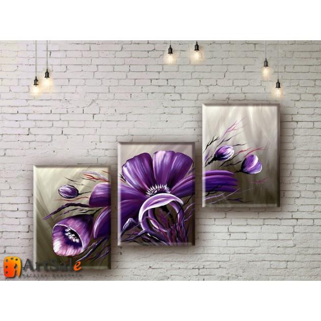 Модульные Картины, рисованные маслом, Art. MKR17_3_013