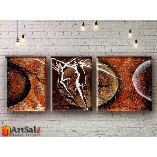Модульные Картины, рисованные маслом, Art. MKR17_3_015