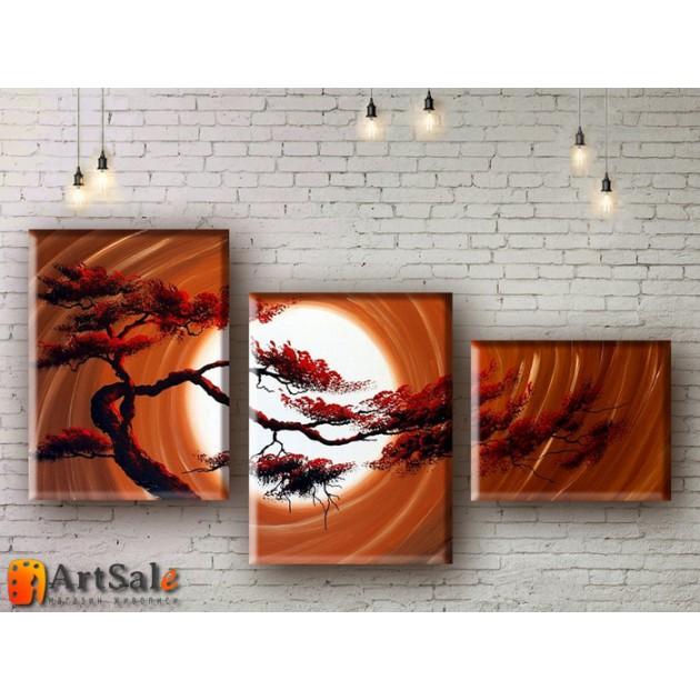 Модульные Картины, рисованные маслом, Art. MKR17_3_061