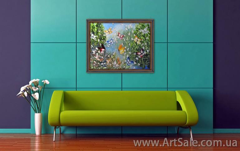 Картина с бабочками, картины цветы, картины маслом цветы ...